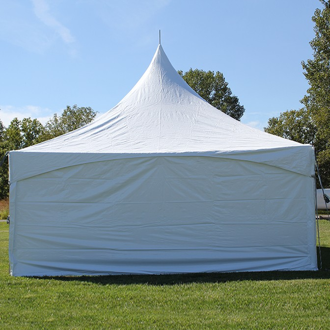 8\' x 20\' Solid White Cross Cable Frame Tent Sidewall - Cross Cable ...