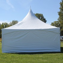 8' x 20' Solid White Cross Cable Frame Tent Sidewall