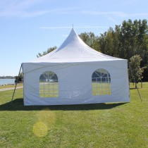 8' x 20' Cross Cable Frame Tent Window Sidewall